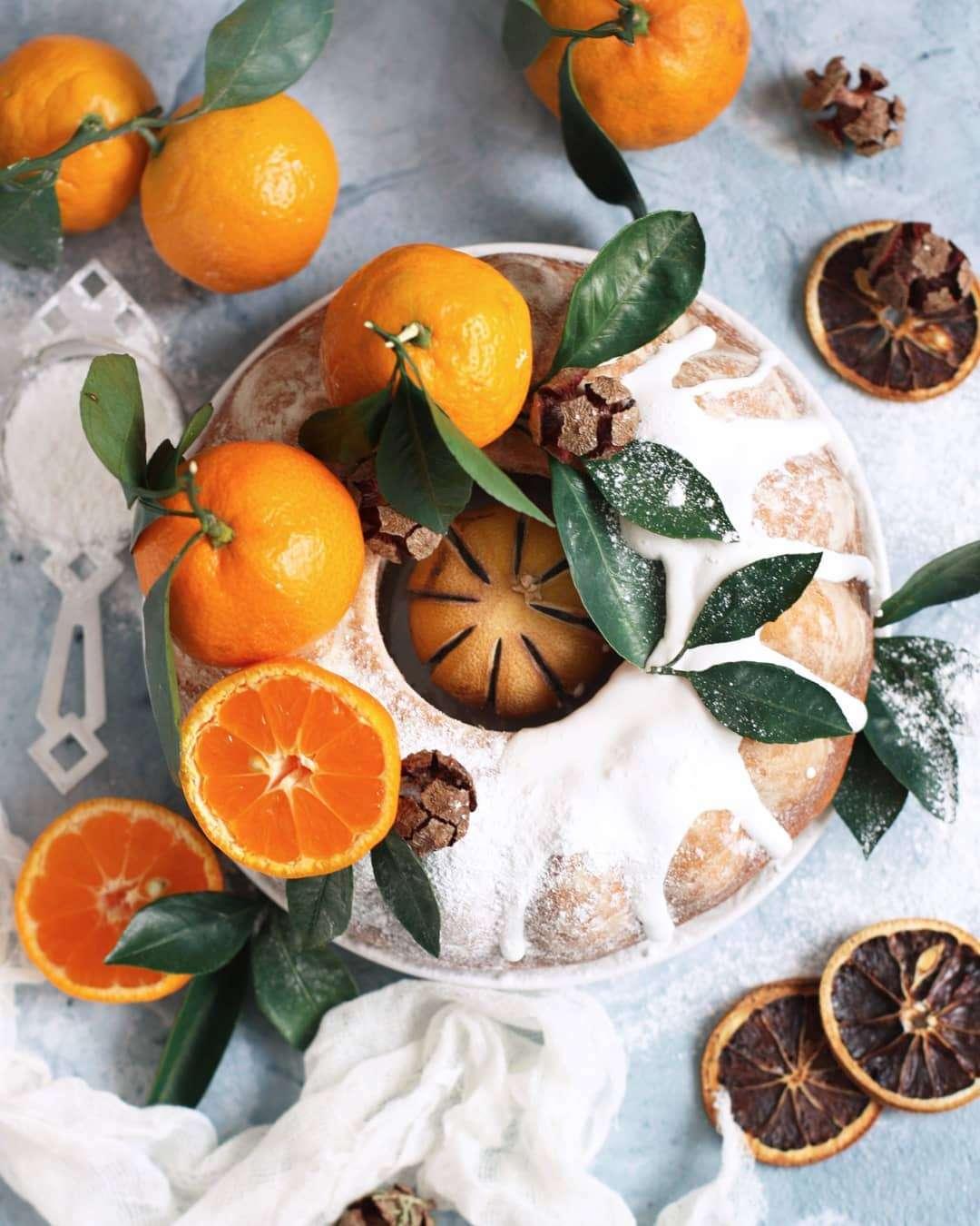 Зимняя выпечка: вкусный и ароматный мандариновый кекс