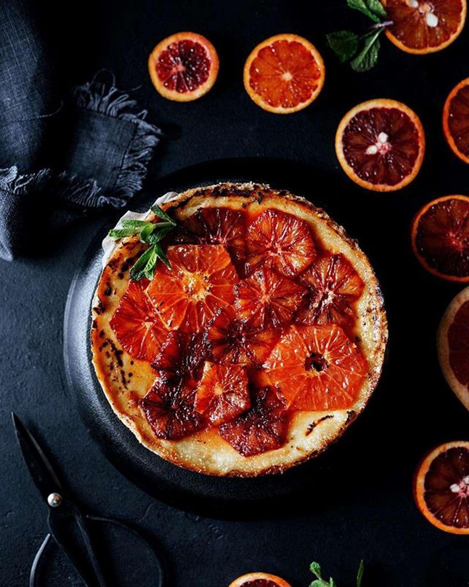 Кулинарный вызов: пирог крем-брюле с красными апельсинами