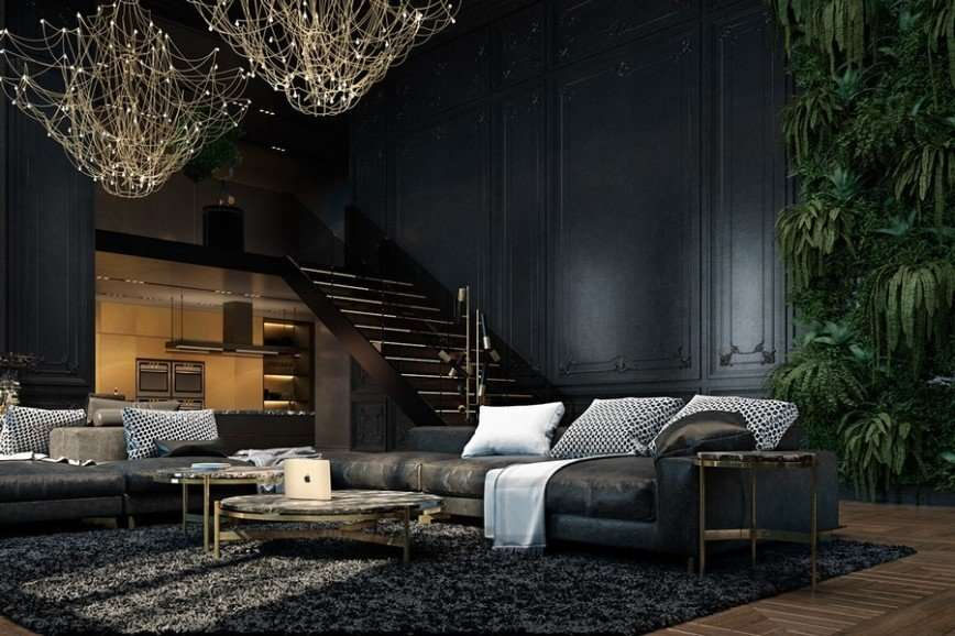 Шикарный интерьер апартаментов в Париже
