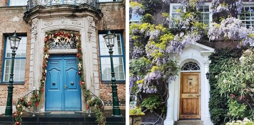 Странная мода на фотографии входных дверей