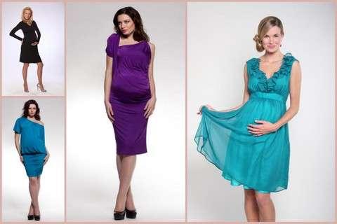 Оформлення і колірна палітра святкових нарядів для вагітних. В тренді зараз  вечірні та коктейльні сукні ... c3265e6e18331